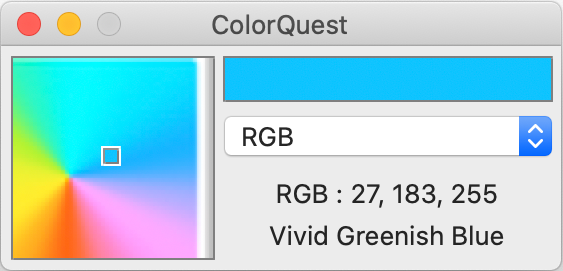 Screen Capture of the ColorQuest
